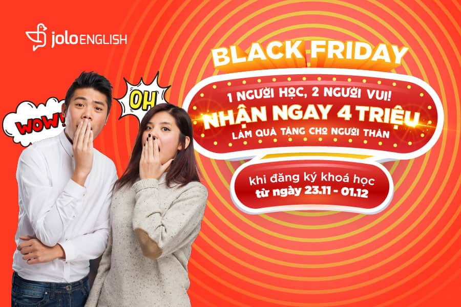 black friday jolo tang qua 4 trieu dong